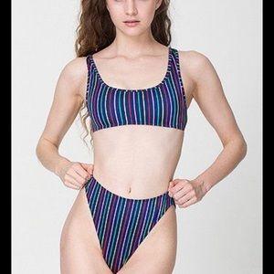 ISO American apparel striped high rise bikini